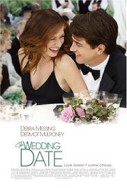 DVD cover with young couple in formal wear at a wedding table set with flowers and glasses of wine